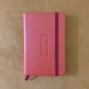 NOTEBOOK: Red Pocket Size with Arrow Embossed